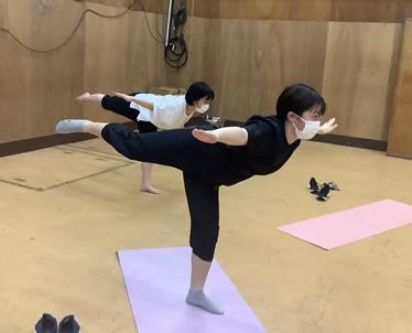 身体訓練の様子
